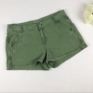 J. Crew Linen Blend Olive Green Chino Shorts Sz 6